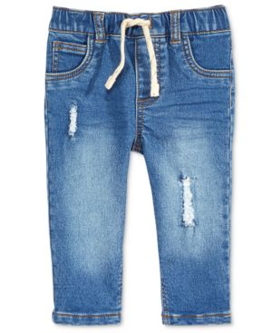First Impressions Destructed Denim Jeans, Baby Boys, Created for Macy's 5376405