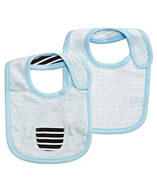 First Impressions 2-Pk. Printed Bibs, Baby Boys, Created for Macy's