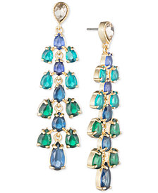 Carolee Gold-Tone Cascading Stone Drop Earrings
