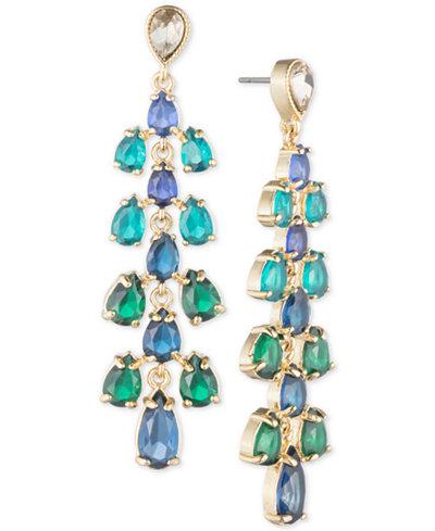 Carolee Gold-Tone Cascading Stone Drop Earrings