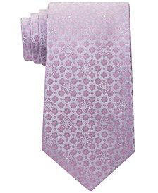 Calvin Klein Men's Medallion Silk Tie
