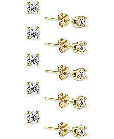 Giani Bernini 5-Pc. Set Cubic Zirconia Stud Earrings, Created for Macy's