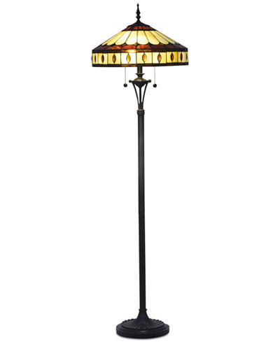 Dale tiffany julio tiffany floor lamp lighting lamps for Macy s torchiere floor lamp