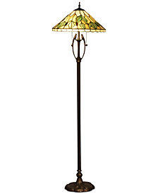 Dale Tiffany Fox Glacier Tiffany Floor Lamp
