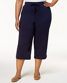 Plus Size Knit Capri Pants, Created for Macy's