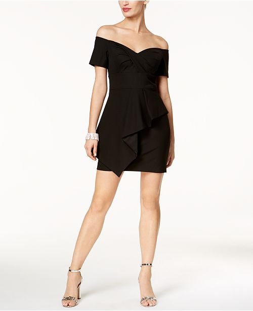 b25bf06fffdf Vince Camuto Off-The-Shoulder Sweetheart Dress   Reviews - Dresses ...
