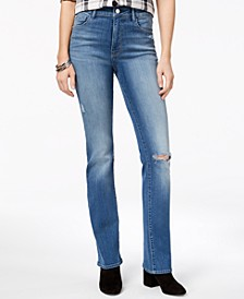 Marly Ripped High-Rise Bootcut Jeans, Created for Macy's