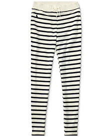 Ralph Lauren Striped French Terry Leggings, Big Girls