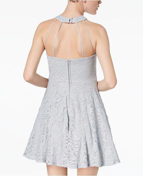 f6f033e4 B Darlin Juniors' Glitter Lace Fit & Flare Dress & Reviews - Dresses ...