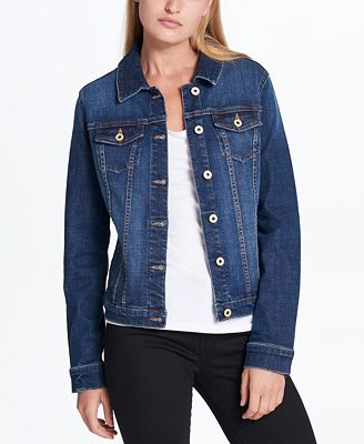 Tommy Hilfiger Cotton Denim Jacket, Created for Macy's - Jackets ...