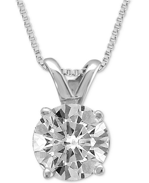 Macy's Diamond Solitaire Pendant Necklace (3/4 ct. t.w.)