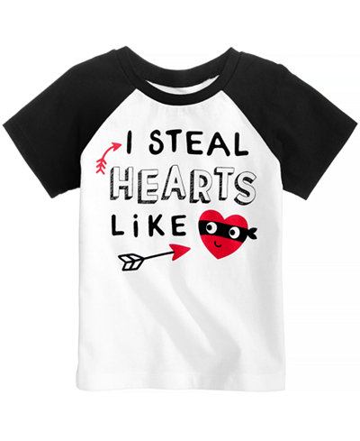 First Impressions Steal Hearts Cotton T-Shirt, Baby Boys, Created for Macy's