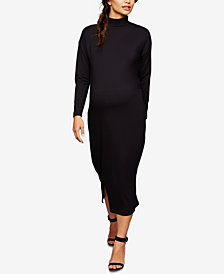 Isabella Oliver Maternity Midi Mock-Neck Dress