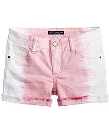 Vanilla Star Frosted Rose Denim Shorts, Big Girls