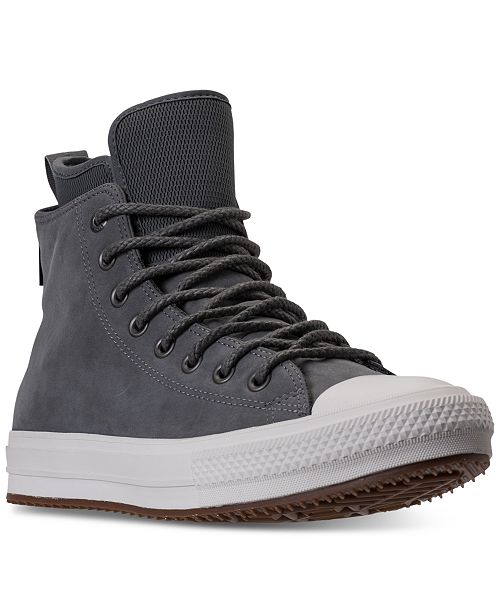52f93e8dfe43d1 ... Converse Men s Chuck Taylor All Star Waterproof Boot Nubuck Hi Casual  Sneakers from Finish ...