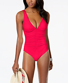 Coco Reef Solitaire Bra-Sized Underwire Allover Slimming One-Piece Swimsuit