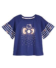 Hello Kitty Ruffle-Sleeve T-Shirt, Little Girls