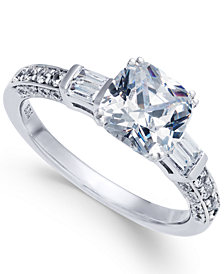 Diamond Cushion Cut Engagement Ring (1-1/2 ct. t.w.) in 14k White Gold