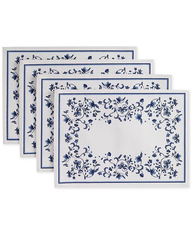Portmeirion Blue Portofino 4-Pc. Placemat Set