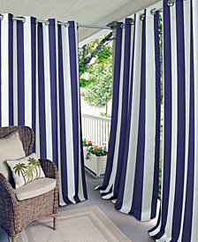"Elrene Aiden Stripe 52"" x 108"" Indoor/Outdoor Grommet Panel with 50+ UV Protection"