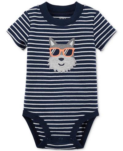 Carter's Striped Dog Cotton Bodysuit, Baby Boys