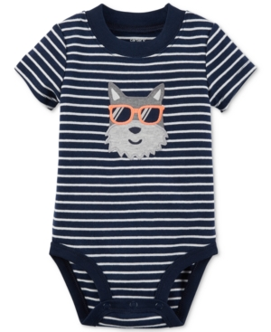 Carters Striped Dog Cotton Bodysuit Baby Boys (024 months)
