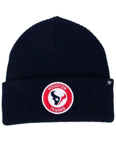 '47 Brand Houston Texans Ice Block Cuff Knit Hat