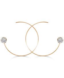 GUESS Crystal Threader Hoop Earrings