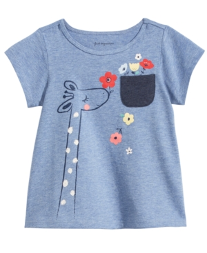 First Impressions Cotton Giraffe TShirt Baby Girls (024 months) Created for Macys