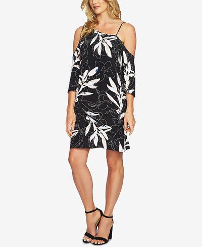 1.STATE Printed One-Shoulder Dress