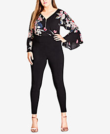 City Chic Trendy Plus Size Wide-Waistband Leggings