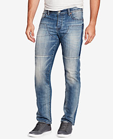WILLIAM RAST Men's Slim-Fit Stretch Moto Jeans