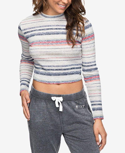 Roxy Juniors' Striped Cropped Top
