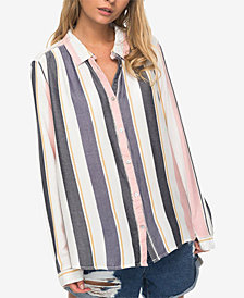 Roxy Juniors' Striped Blouse