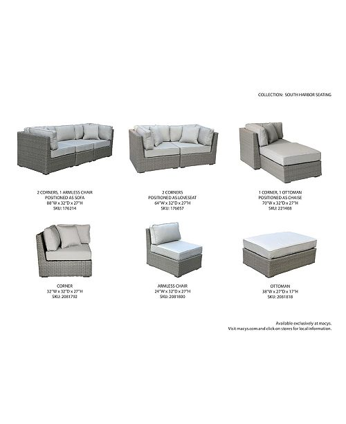 Furniture Closeout South Harbor Outdoor 7 Pc Modular