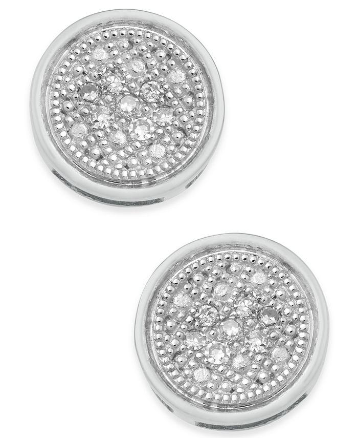Macy's - Diamond Accent Button Stud Earrings