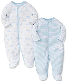 Little Me 2-Pk. Bears Cotton Coveralls, Baby Boys