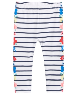 First Impressions FloralSide Striped Leggings Baby Girls (024 months) Created for Macys