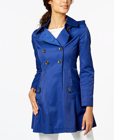 Via Spiga Hooded Skirted Trenchcoat