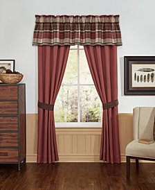 "Croscill Kent Double Layered 72"" x 20"" Window Valance"