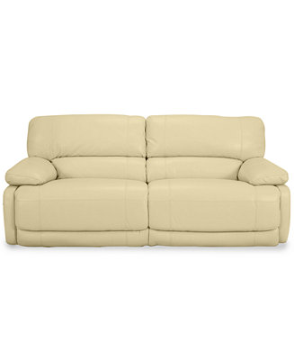 Nina Leather Dual Power Reclining Sofa Furniture Macy S