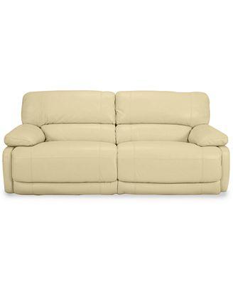 Nina Leather Dual Power Reclining Sofa Furniture Macy s