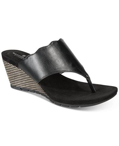 Bandolino Sarita Slip-On Wedge Sandals