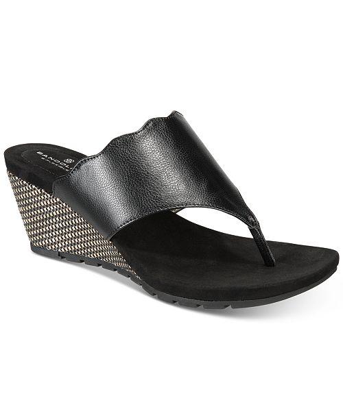 931bf84b6cea5b Bandolino Sarita Slip-On Wedge Sandals - Sandals   Flip Flops ...