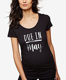 Motherhood Maternity Ruched Graphic T-Shirt
