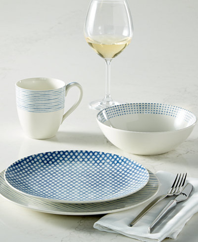 Noritake Dinnerware Blue Hammock Collection, Created for Macy's