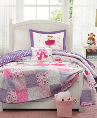 Twirling Tutu 3-Pc. Twin Coverlet Set