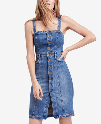 Free People Sleeveless Denim Dress