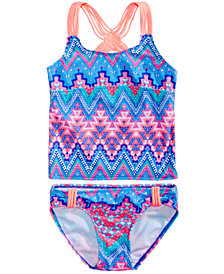 Summer Crush 2-Pc. Geo-Print Tankini Swimsuit, Big Girls