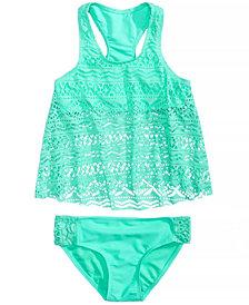 Summer Crush 2-Pc. Crochet Tankini Swimsuit, Big Girls